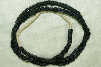 Old Black Lamp Work Beads from the 1700s