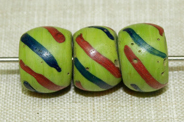 Venetian Chartreuse Glass Beads fron the 1800s