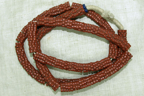 Brick Red Pressed Flat Flower Beads
