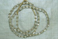 Antique Clear Glass Melon Beads