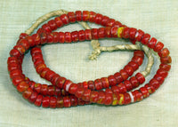 Strand of Vintage Red Kankamba Glass Beads