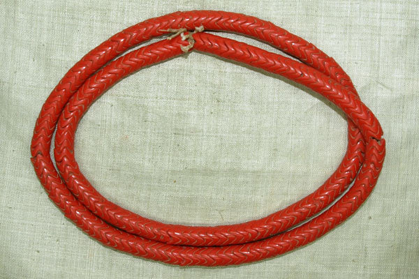 Orange-Red Antique Czech Snake Beads