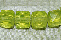 Czech Faceted Cube Glass Bead