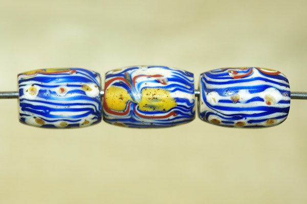 Antique Venetian Blue Striped bead