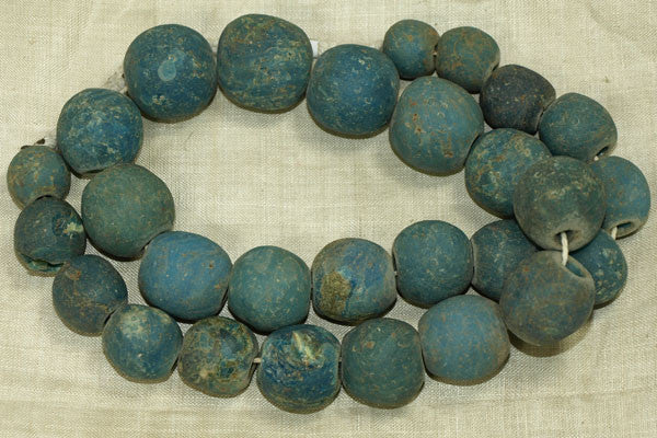 Strand of Rare Teal Majapahit Beads