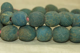 Strand of Rare medium size Teal Majapahit Beads