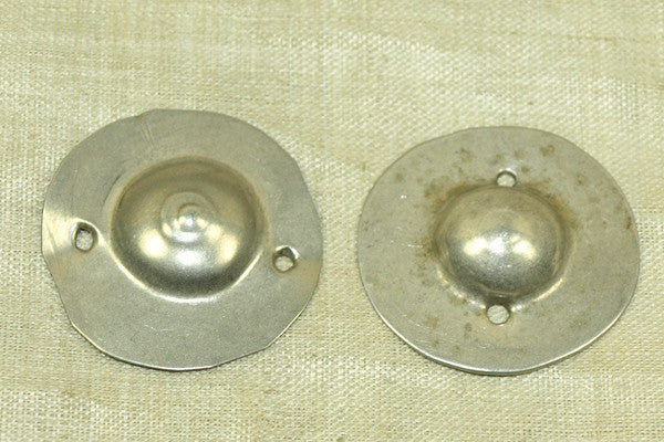 Larger Domed Coin Silver Buttons