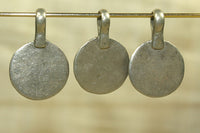 Flat Coin Silver Disc Dangle from Afghanistan