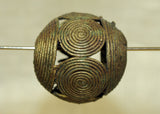 Large Round Brass Baule Bead
