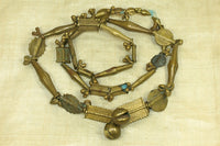 Amazing Strand of Antique Baule Brass Beads, C
