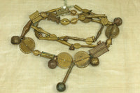 Amazing Strand of Antique Baule Brass Beads, A