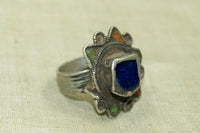 Berber Silver and Enamel Ring