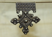 Antique Silver Berber Cross Pendant