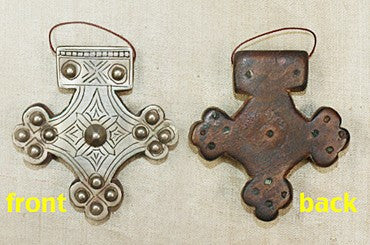 Antique Silver and Wood Berber Pendant