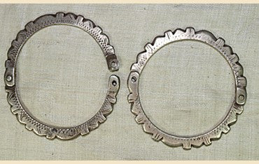 Pair of Old Silver Berber Bracelets