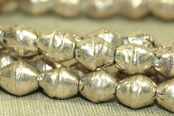 New Silver Color 6mm Bicones from Ethiopia