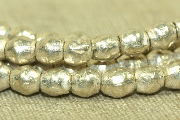 New minii Silver 3x4mm Bicones from Ethiopia