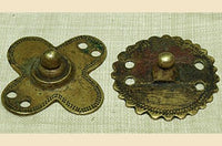 Set of Two Antique Bronze/Brass Shield Pendants