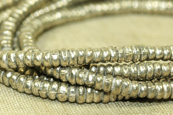 "New 3-3.5mm ""Antique Silver"" Heishi"