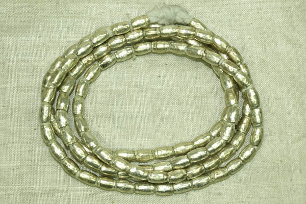 German Silver Tapered Cylinder Beads from Ethiopia