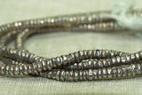 3mm Silver Color Metal Heishi from Ethiopia
