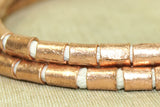 Strand of Ethiopian Copper 6mm Tube Beads
