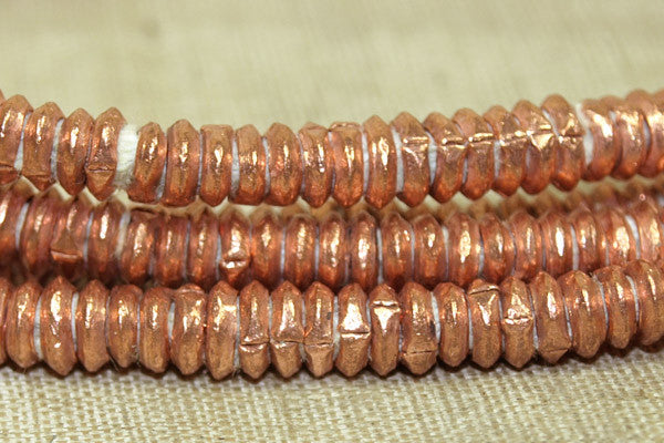 4mm Copper Ethiopian Heishi, New