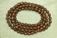8mm Copper Bicone Beads from Ethiopia