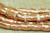 4mm Tapered Tube Copper Beads from Ethiopia