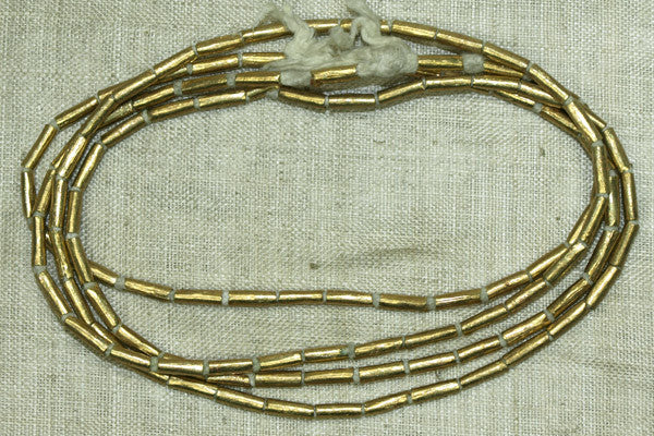 "Brass ""Bugle"" Bead from Ethiopia"