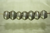 Thick Antique Ethiopian Silver Hair Bead