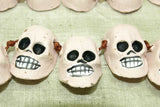 Pink Ceramic Day of the Dead Skull Beads