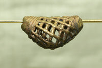 Brass Elbow Bead from Ghana