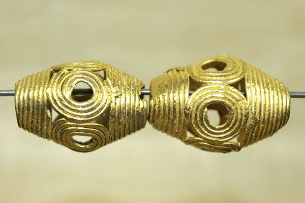 Classic Traditional Lost Wax Cast Filigree Bead from Ghana