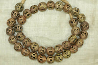 Traditional Small Filigree Brass Beads