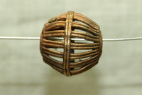 Brass Basket Bead from Ghana