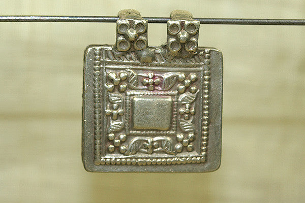 Old Silver Prayer Box Pendant from India