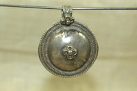 Antique Silver Indian Disc Pendant
