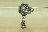 Antique Fluted Silver Bead with Dangles