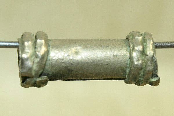 Vintage Silver Tube Bead from India