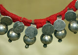 Antique Silver Dangles Anklet from India