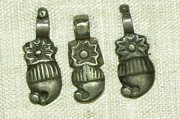 Small Old Silver Indian Dangles