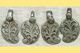 Pair of Antique Silver Paisley Design Pendants