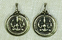Small Gold Repousse Drop Lord Vishnu Amulet