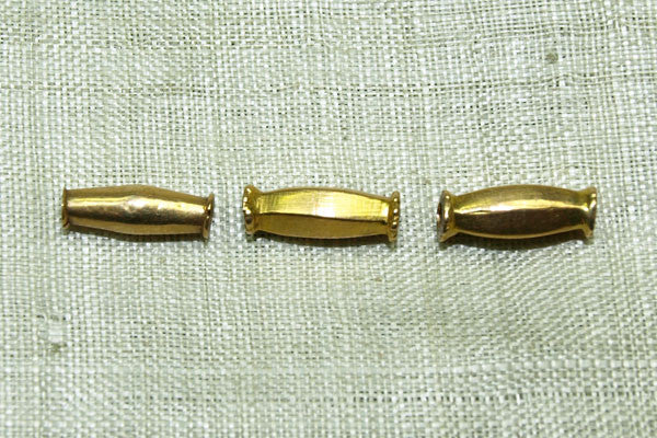 Elongated 18Kt Bead, India