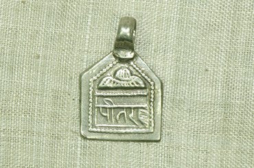 Antique India Silver Hindu Amulet