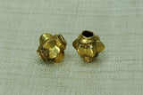 Gold Fluted Beads from India