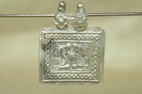 Old Silver Pendant, Bird motif from India