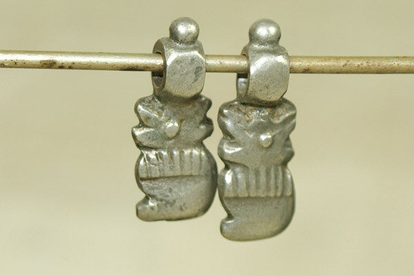 Pair of Small Silver Dangles from India