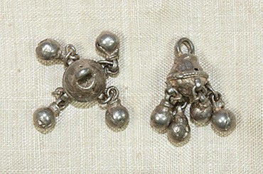 Bell Shaped Bead with Bell Dangles from India
